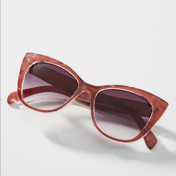 Anthropologie Accessories - Anthropologie Cat-Eye Sunglasses in Pink